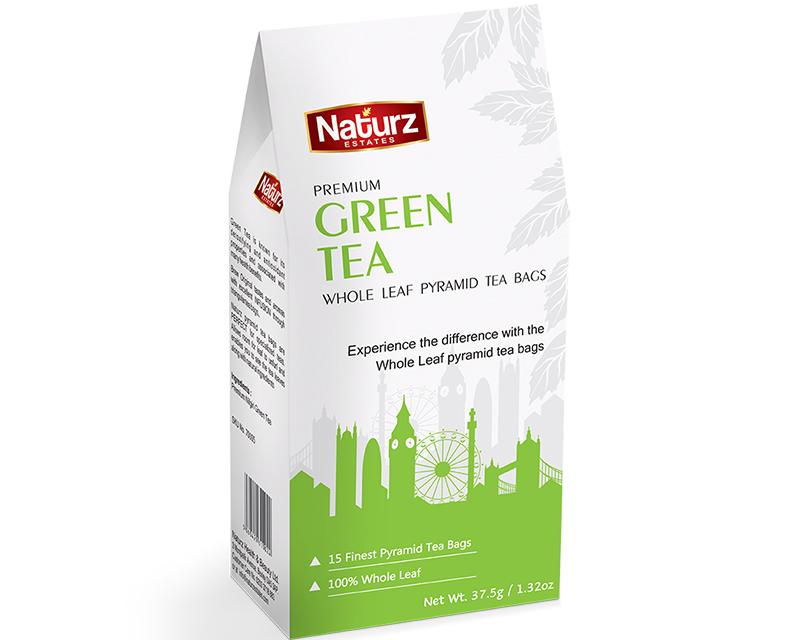 Premium Green Whole Leaf Pyramid Tea Bags